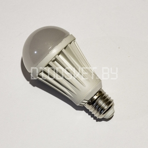 Светодиодная лампа E27, 10Вт (80Вт), тёплый белый, 220V
