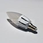 Светодиодная лампа Е14, 6Вт, дневной белый, свечка