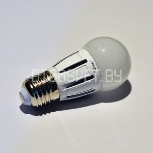 Светодиодная лампа E27, 6Вт, тёплый белый, шарик