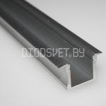 Алюминиевый профиль GS-02 (2000x22x12мм), встраиваемый, за метр без экрана