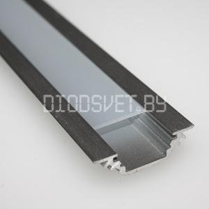 Алюминиевый профиль GS-01(2000x22х7 мм), встраиваемый, цена за метр без экрана