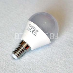 Светодиодная лампа Е14, 5.2Вт (60Вт), тёплый белый
