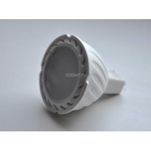 Светодиодная лампа G5.3 (MR16-220V), 5Вт, тёплый белый
