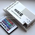 Аудиоконтроллер с пультом управления 12V (24V), 120Вт (240Вт)