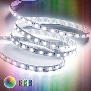 Светодиодная лента RGB+W (Warm White) 5050, IP20, 60LED, 1м