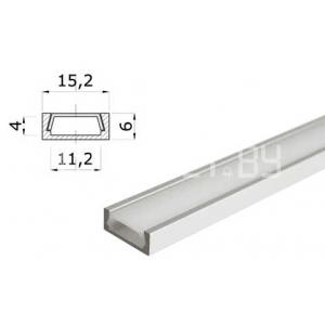 Накладной алюминиевый профиль 1506, цена за метр с экраном