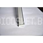 Профиль аллюминиевый 2206 в комплекте с заглушками, экраном и монтажными креплениями