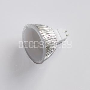 Светодиодная лампа MR16(12V), 5.5 Вт (80 Вт), дневной белый,  MILK