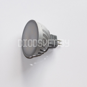 Светодиодная лампа G5.3 (MR16-220V), 6Вт (80 Вт), тёплый белый